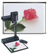 Document camera projecting 3-d object
