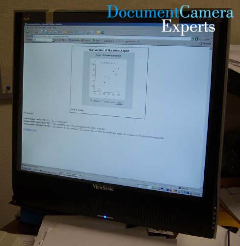 Mega Monitor using a Document Camera Visualiser Digital Presenter- Image 1